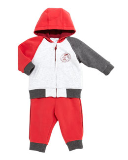 Little Marc Jacobs Colorblock Zip-Front Hoodie & Cotton-Fleece Jogging Sweatpants, 3-18 Months