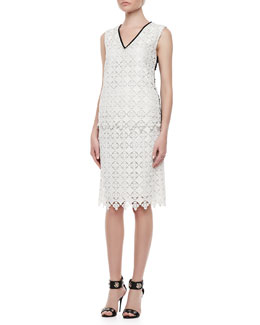 Erdem Vita Sleeveless Lace Shell Top & Aysha Lace Pencil Skirt