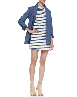 MARC by Marc Jacobs Jamie Pinstripe Jacket & Jacquelyn Striped Shift Dress
