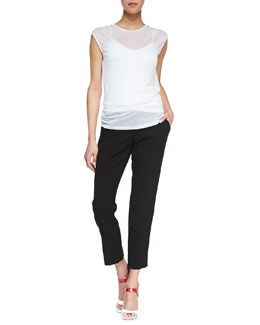 Alice + Olivia Sleeveless Slub Tee & Stacey Slim Pants