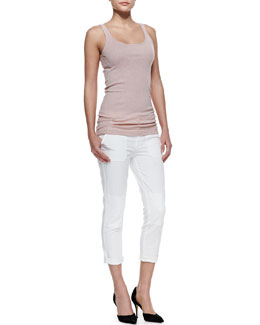 Vince Favorite Tank & Military Rolled Trousers