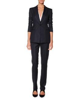 Giorgio Armani One-Button Wool Jacket, Straight-Leg Trousers & Sleeveless Silk Top