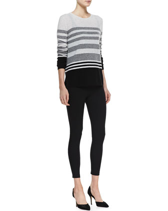 Colorblock Striped Cashmere Sweater, Favorite Tank & Cropped Jersey Leggings