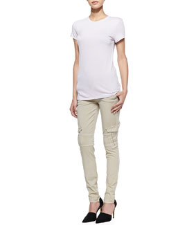 Vince Short-Sleeve Knit Tee & Slim-Fit Cargo Pants