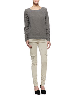 Vince Long-Sleeve Cotton Tee & Slim-Fit Cargo Pants