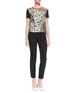 Diane von Furstenberg Becky Printed Short-Sleeve Top & Lupa Cropped Leggings