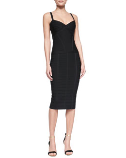 Herve Leger Suma Bandage Tank Top & Sia Below-The-Knee Bandage Skirt