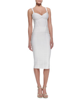 Herve Leger Bandage Tank Top & Sia Below-The-Knee Bandage Skirt