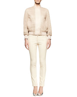 Reed Krakoff Honeycomb Mesh Jacket and Piped Stretch Skinny Pants