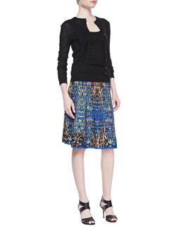 M Missoni Zigzag Crewneck Cardigan, Zigzag Tank & A-Line Jacquard Skirt