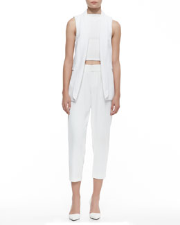 Alice + Olivia Tux Vest, Pire Sleeveless Crop Top & Arthur Knit Lined Pants