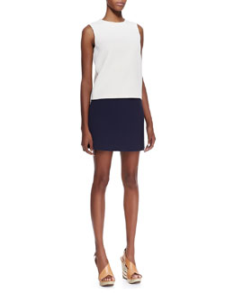 Theory Emlay Sleeveless Crepe Blouse & Keeta Crepe Miniskirt