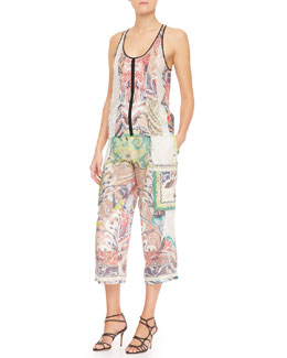 Etro Fern Paisley Patchwork Tank Top & Pants
