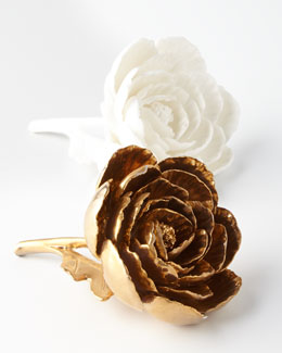 Gold-Plated  & Porcelain Peonies