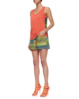 M Missoni Zigzag-Back Tank Top & Zigzag Pocket-Front Shorts