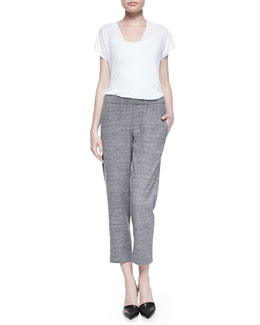 Theory Sag Harbor Fine-Gauge Knit Top & Abundant Stretch-Knit Pull-On Pants