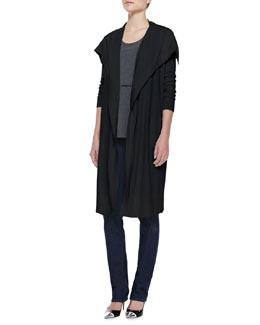 Theory Riviera Casterley Drape Cardigan and Lumpkin Tiered Knit Top