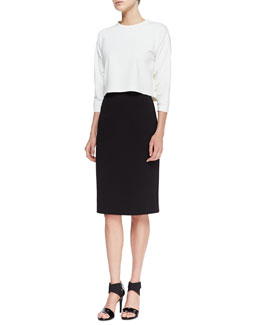Theory Rhin Erez Crop Top and Rhin Austell Pencil Skirt