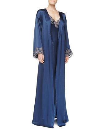 La Perla Floral Lace Chemise & Long Robe