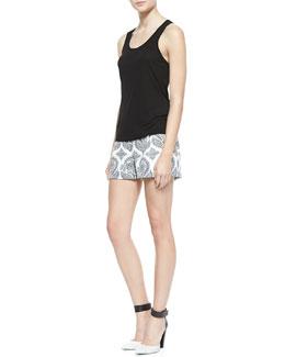 Diane von Furstenberg Josaline Jersey Tank Top & Naples Floral Stamp Shorts