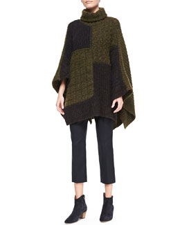 Isabel Marant Etoile Raquel Patchwork Cape Sweater and Mika Cropped Crepe Pants