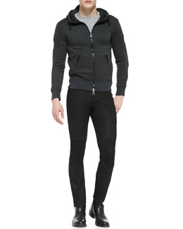 Webster Luxe Fleece Hoodie & Blackrod Slim Stretch Jeans with Knee Panels