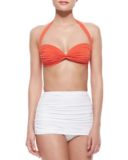 Bill Halter Bra-Style Swim Top & High-Rise Swim Bottom