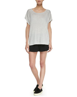 Vince Mesh-Inset Short-Sleeve Slub Tee & Drop-Yoke Boxer Shorts