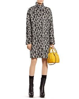 Gucci Animalier Mohair-Blend Coat & Silk Dress