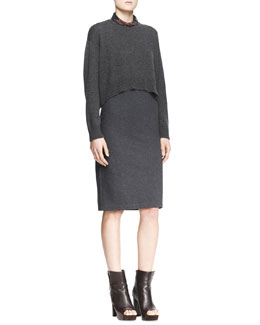 Brunello Cucinelli Choker Necklace and Sweater/Dress Set