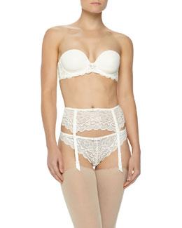 Celeste Strapless Bra, Garter Belt & Tanga Panties