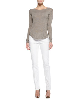 Theory Landran Lightweight Knit Sweater & Patice Knit Casual Pants