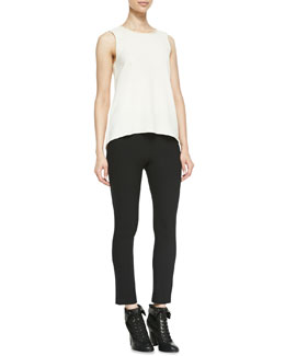 Rag & Bone Harper Sheer-Back Sleeveless Top & Simone Back-Zip Leggings