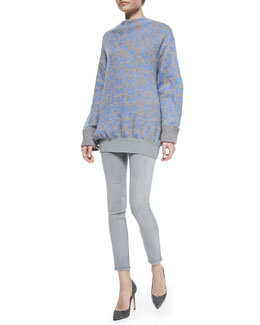 Acne Studios Mist Animal-Print Sweater and Tucker Ankle Pants