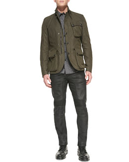 Belstaff Boxworth 3-Pocket Jacket & Eastham Resin-Coated Skinny Jeans