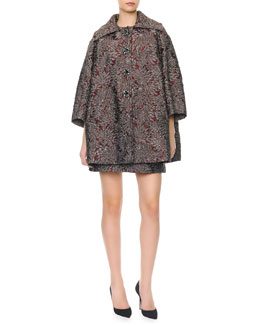 Dolce & Gabbana Metallic Jacquard Opera Coat & Dress with Crystal Buttons
