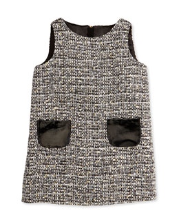Milly Minis Girls' Metallic Tweed Shift Dress