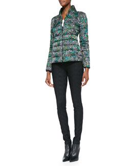Missoni Printed Puffer Jacket & Skinny Jacquard Pants