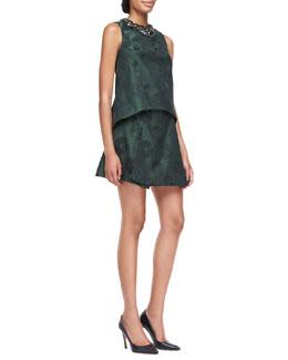 Tory Burch  Loretta Jacquard Shell & Karina Jacquard Draped Skirt