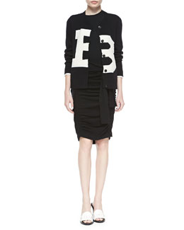 Band of Outsiders Broken B Knit Cardigan & Ruched Sweater-Illusion Skirt