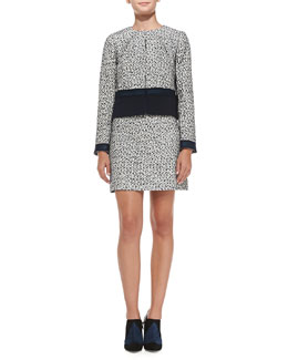 Tory Burch Lucille Silk-Blend Tweed Jacket & Skirt