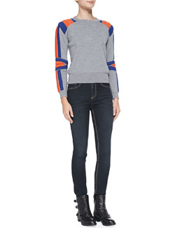MARC by Marc Jacobs Grady Wool Crewneck Sweater & Ella Skinny Denim Jeans