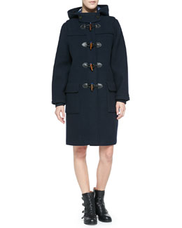 MARC by Marc Jacobs Paddington Toggle-Front Coat & Toto Two-Tone Plaid Crepe Dress