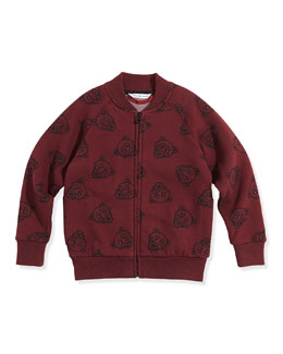 Little Marc Jacobs Boys' Allover Panther-Print Zip Cardigan