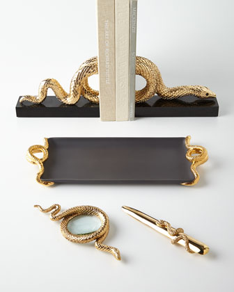 L 39 objet snake motif desk accessories - Objet vintage occasion ...