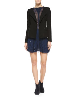 Isabel Marant Etoile Julia Wool-Blend Jacket, Caja Striped Top & Cary Striped Miniskirt