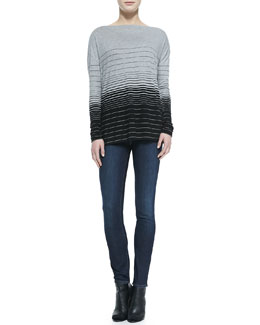 Vince Striped Boat-Neck Tee & Dylan Skinny Jeans