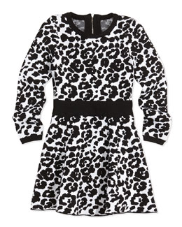 Milly Minis Cheetah-Print Flare Dress