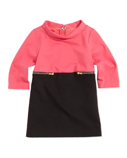 Milly Minis Colorblock Zip-Detail Dress
