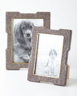Chocolate Shagreen Deco Frames